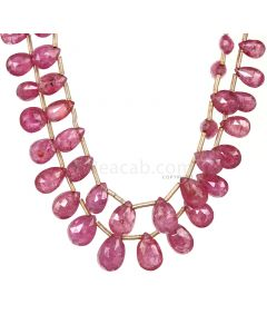 2 Lines - Medium Pink Pink Sapphire Faceted Drops - 51.25 cts - 5.5 x 4.1 mm to 9.4 x 6.3 mm (PSDR1010)