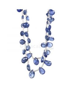 2 Lines - Medium Blue Sapphire Faceted Drops - 46.95 cts - 4.1 x 3.6 mm to 7.9 x 5.6 mm (SDR1034)
