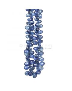 1 Line - Dark Blue Sapphire Faceted Drops - 99.00 cts - 2.4 x 3.7 mm to 6.2 x 3.6 mm (SDR1030)
