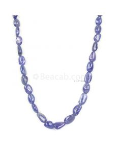 1 Line - Violet Tanzanite Tumbled Beads - 130.45 cts - 6 x 4.2 mm to 11.5 x 9.3 mm (TZTUB1029)