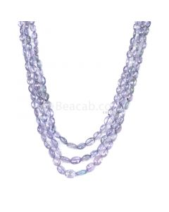 3 Lines - Violet Tanzanite Tumbled Beads - 137.60 cts - 4 x 3.3 mm to 6.7 x 5.5 mm (TZTUB1046)