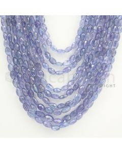 5.00 to 7.00 mm - Tanzanite Faceted Tumbled Beads - 540.40 carats - 17 to 22 inches (TzFTuB1004)