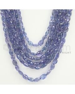 5.50 to 9.00 mm - Tanzanite Faceted Tumbled Beads - 390.46 carats - 19 to 22 inches (TzFTuB1007)