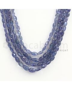5.00 to 7.00 mm - Tanzanite Faceted Tumbled Beads - 227.25 carats - 15 to 18 inches (TzFTuB1008)