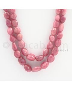 Pink Sapphire Faceted Tumbled Beads - 18 to 20 inches (PnSFTuB1015)