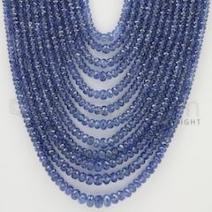 2.50 to 5.50 mm - 12 Lines - Sapphire Faceted Beads - 16 to 22 inches (SFB1022)