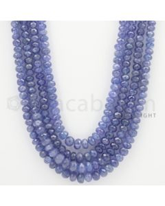 6.00 to 8.00 - 4 Lines - Tanzanite Faceted Beads - 22 to 26 inches (TzFB1005)