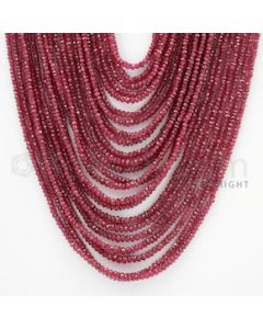 2.00 to 3.50 mm - Ruby Faceted Beads - 668.60 Carats - 23 Lines (RFB1026)