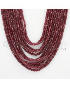 2.00 to 3.50 mm - Ruby Faceted Beads - 402.20 Carats - 11 Lines (RFB1046)