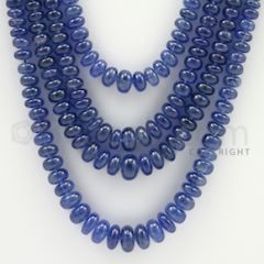3.00 to 8.00 mm - 3 Lines - Sapphire Smooth Beads - 18 to 22 inches (SSB1002)
