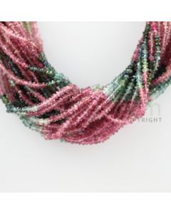 2.50 to 2.90 mm - 23 Lines - Tourmaline Faceted Beads - 15 inches (MuToFB1003)