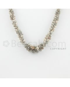 3.50 to 8.50 mm - 1 Line - Diamond Drop Beads - 15 inches (DiaDrp1004)