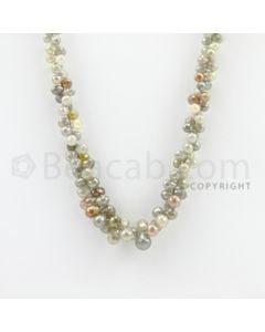 3.00 to 7.00 mm - 1 Line - Diamond Drop Beads - 21 inches (DiaDrp1010)