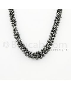4.50 to 9.00 mm - 1 Line - Black Diamond Drop Beads - 11 inches (DiaDrp1016)
