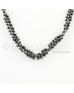 4.50 to 5.70 mm - 1 Line - Black Diamond Drop Beads - 10 inches (DiaDrp1018)