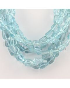 9.00 to 11.00 mm - 6 Lines - Blue Topaz Tumbled Beads - 18 inches (BTTuB1007)
