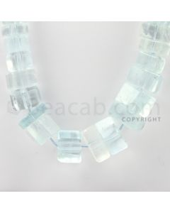 5.50 to 19.00 mm - 1 Line - Aquamarine Hexagonal Beads - 23 inches (AqHexB1001)