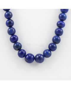8 to 13.30 mm - 1 Line - Lapis Lazuli Gemstone Smooth Beads - 442.00 carats (LapisB1003)