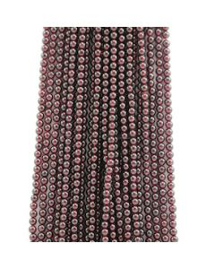 5 mm - 24 Lines - Garnet Gemstone Smooth Beads - 2532.00 carats (GarnB1001)