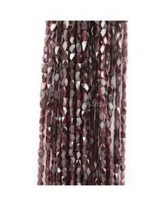 6 to 7 mm - 21 Lines - Garnet Gemstone Faceted Rectangle Beads - 1324.00 carats (GarnB1005)