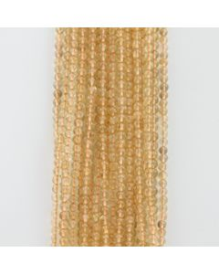 4.50 to 4.80 mm - 20 Lines - Citrine Gemstone Smooth Beads - 1091.00 carats (CitSB1003)