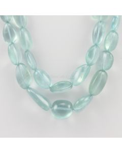 9.80 to 23 mm - 2 Lines - Aquamarine Gemstone Tumbled Beads - 500.00 carats (AqTuB1040)