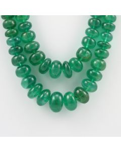 6.50 to 15.40 mm - 2 Lines - Emerald Gemstone Smooth Beads - 645.00 carats (CSNKL1082)