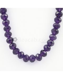 9.80 to 10.20 mm - Dark Purple Amethyst Faceted Beads - 257.00 carats (AmFB1010)