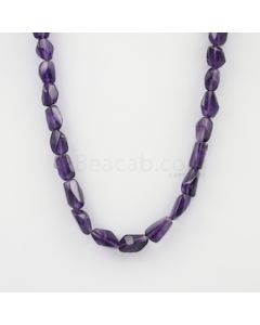 11.50 to 15 mm - Dark Purple Amethyst Tumbled Beads - 214.15 carats (AmTuB1008)