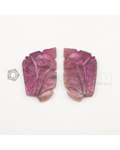 38 x 20 mm - Medium Pink Tourmaline Carving - 61.00 carats (ToCarv1012)