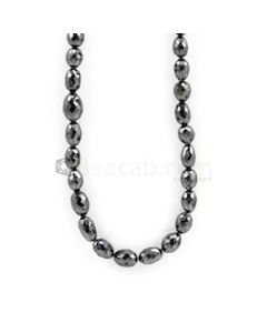 6.50 to 9.50 mm - Black Diamond Drum Beads - 109.00 carats (BDiaDrm1005)