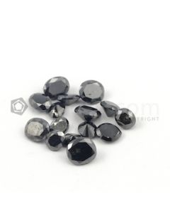 5.50 x 5 mm to 7.50 x 7 mm - Black Oval Shaped Diamond Cut Stones Diamond  - 12.09 carats (FDCS1021)