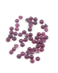 6 mm - Dark Red Round Ruby Cabochons - 55 pieces - 68.24 carats (RuCab1010)