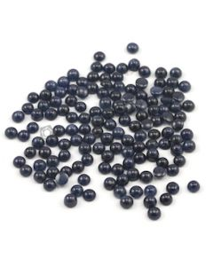 6 mm - Dark Blue Round Sapphire Cabochons - 140 pieces - 191.50 carats (SaCab1009)