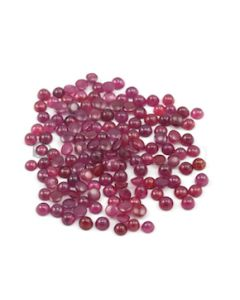 3.60 to 4.20 mm - Medium Red Round Ruby Cabochons - 147 pieces - 50.02 carats (RuCab1066)