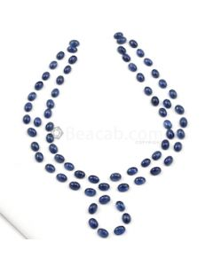7 x 5 mm - Medium Blue Oval Sapphire Cabochons - 69 pieces - 85.72 carats (SaCab1019)