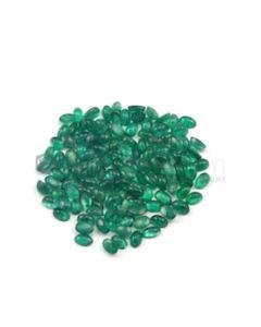 5 x 3 mm - Medium Green Oval Emerald Cabochons - 125 pieces - 30.40 carats (EmCab1021)