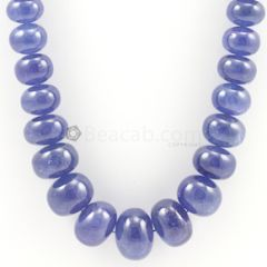 10 to 20 mm - Medium Violet Tanzanite Smooth Beads - 1050.00 carats (TzSB1002)
