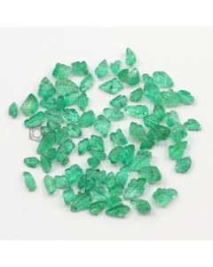 5 x 3 mm to 7 x 5 mm - Medium Green Emerald Carving - 80 pieces - 29.56 carats (EmCar1047)