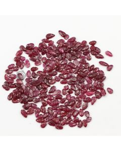 4 x 3 mm to 6 x 3 mm - Medium Red Ruby Leaf Shape Carving - 225 piece - 42.53 carats (RCar1025)