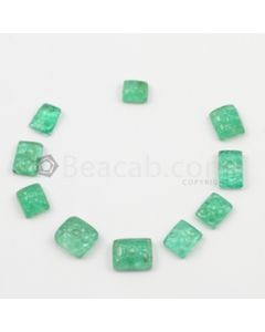 7.50 x 6.50 mm to 11 x 9 mm - Medium Green Emerald Carving - 10 pieces - 27.04 carats (EmCar1084)