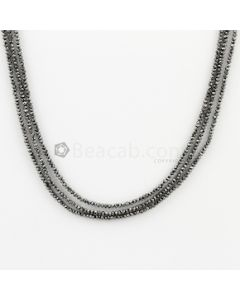 1.50 to 2 mm - Black Diamond Faceted Beads - 3 Lines - 35.50 carats (BDia1020)