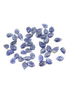 7.50 x 6 mm to 9.60 x 6.60 mm - Medium Blue Sapphire Leaf Shape - 43 Pieces - 63.03 carats (SCar1043)