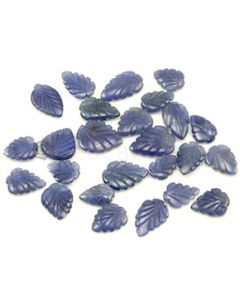 10.20 x 7.20 mm to 14.40 x 11.40 mm - Medium Blue Sapphire Leaf Shape - 25 Pieces - 63.39 carats (SCar1057)