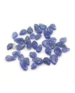 7.50 x 5.70 mm to 11.60 x 8.20 mm - Medium Blue Sapphire Leaf Shape - 35 Pieces - 56.21 carats (SCar1058)