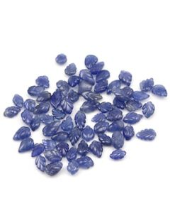 7.80 x 5.30 mm to 11.20 x 6 mm - Medium Blue Sapphire Leaf Shape - 66 Pieces - 85.51 carats (SCar1063)