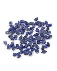 6.50 x 5.70 mm to 10.20 x 4.80 mm - Medium Blue Sapphire Leaf Shape - 78 Pieces - 76.24 carats (SCar1070)
