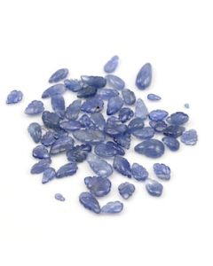 6.50 x 4.70 mm to 12.20 x 6 mm - Medium Blue Sapphire Leaf Shape - 58 Pieces - 70.09 carats (SCar1073)
