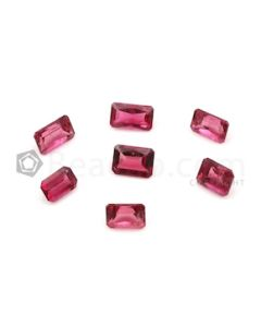 6.20 x 4.20 mm to 7.30 x 4.40 mm - Medium Pink Tourmaline Emerald Cut - 7 Pieces - 5.98 carats (ToCS1113)