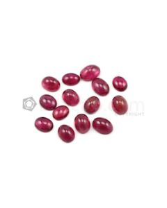 9 x 7.20 mm to 11 x 8 mm - Dark Pink Tourmaline Oval Cabochons - 14 Pieces - 37.73 carats (ToCab1046)